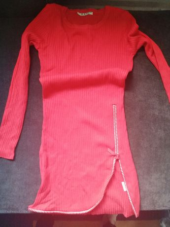 Sweter tunika cyrkonie 38