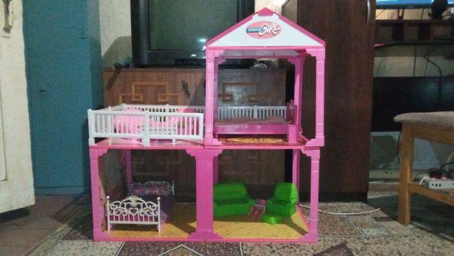 Кукольный дом двухэтажный 3 комнаты