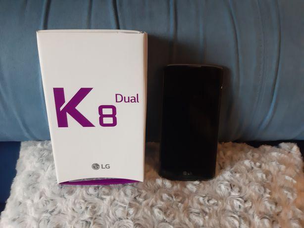 Telefon LG K 8 Dual sim Black Blue bez simlocka ładowarka pokrowiec pu