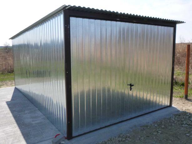 Blaszak Garaż blaszany 3x5 z bramą uchylną Wzmocniony Garaże 4x5 6x5