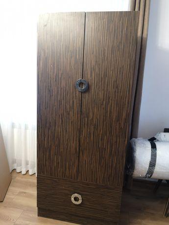 Szafa okleina drewno 90 cm 2 szuflady
