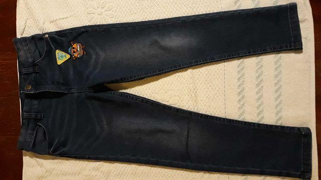 Mini Paka Spodnie chłopięce jeansowe 116 + Koszula 116 biała komplet