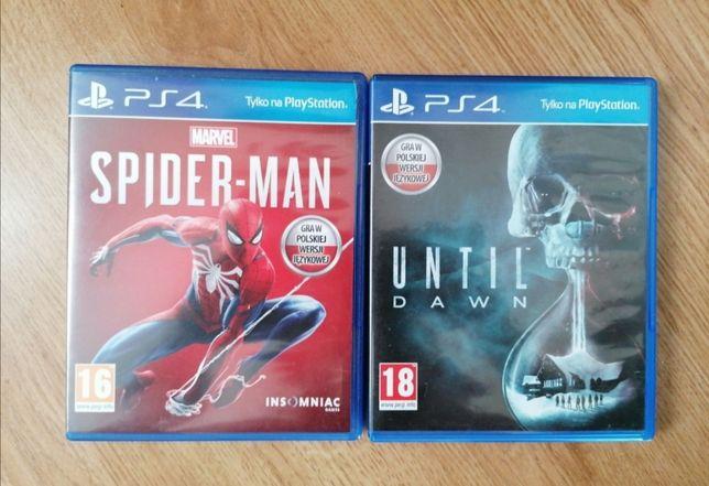 Gry Spider-Man i Until dawn PS4