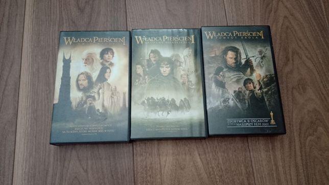 Kasety VHS z filmem Władca pierścieni trzy części