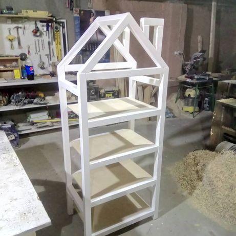 Regal drewniany drewno domek tipi skandynawski polka poleczka