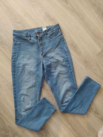 Spodnie h&m wysoki stan skinny 38 M