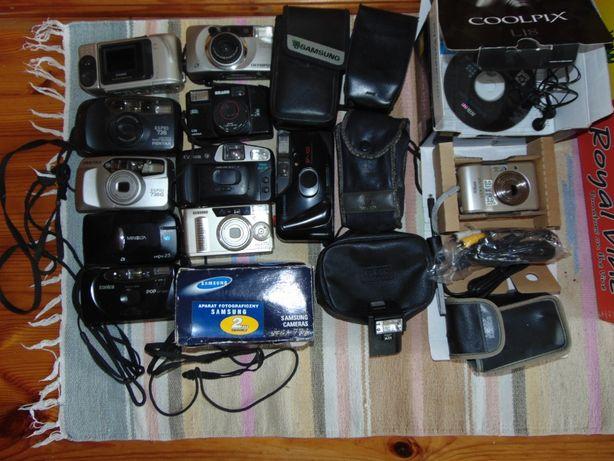 Stare aparaty fotograficzne.