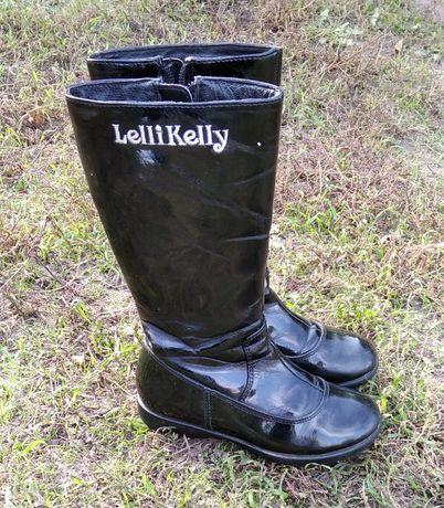Лаковые сапоги демисезонные lelli Kelly 28 р, высокие сапожки, ботинки