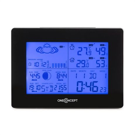 Метеостанция, термометр, гидрометр, будильник (Германия)