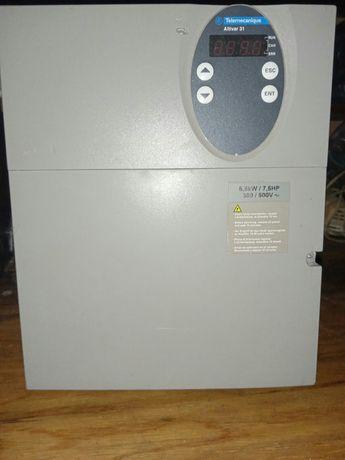 Продам преобразователь частоты ATV31HU55N4 мощный 5,5kw/7,5hp