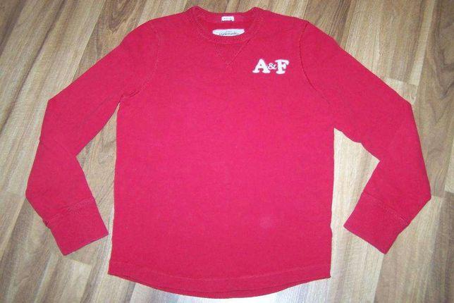 Abercrombie czerwona męska bluza rozm S/M SUPER