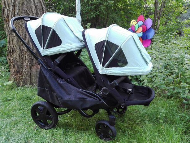 Wózek bliźniaczy, podwójny 3w1. Stan idealny. Gwar. Full wyposażony
