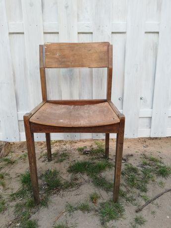 Krzesło nietapicerowane drewniane unikat PRL
