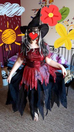 Czarownica przebranie sukienka , kapelusz i maska M