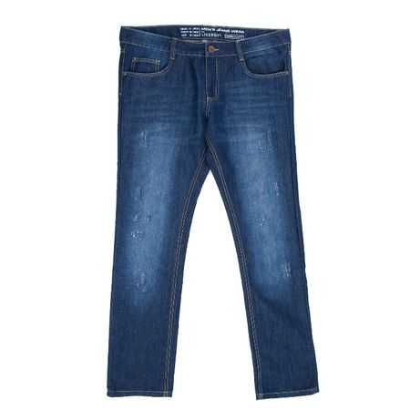джинсы спецпотертости р.54 унисекс