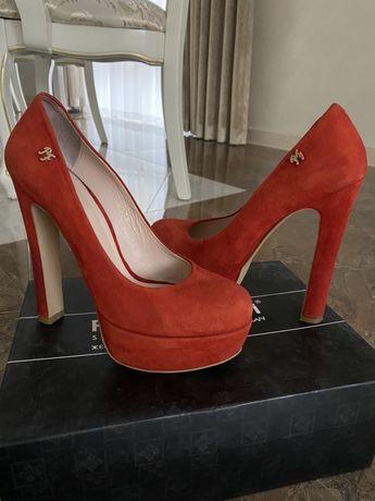 Шкіряні замшеві туфлі Paoletti