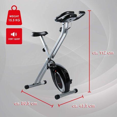 Rower treningowy Ultrasport F-Bike, wyświetlacz LCD, czujniki pulsu