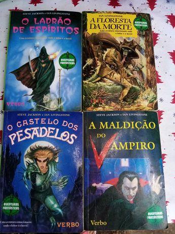 Livros jogo pré adolescência 1995 /96