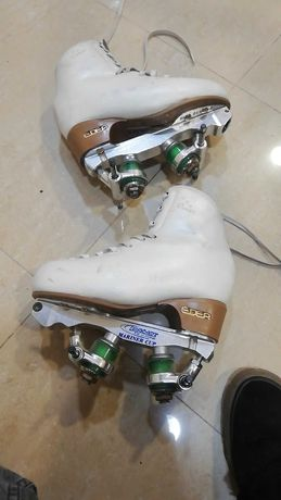 Vendo patins em bom estado, chassi MARINER 110 e bota Rondó 220S