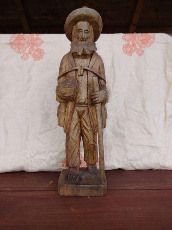 Drewniana figura rzeźba Pasterza, Wędrowca - Argentyna