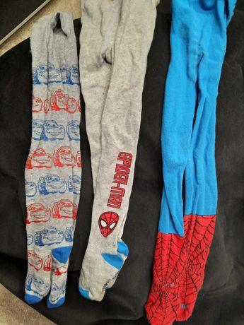 Rajstopy 98-104 dla chlopca chlopiece Spiderman Auta