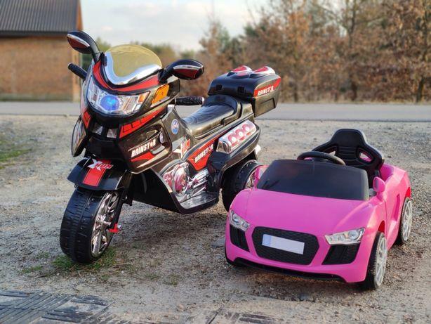 WIELKI MOTOR dla dzieci 2xSILNIK światła mp3 motorek elektryczny