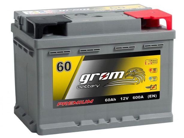 Akumulator Grom Premium 60Ah 600A
