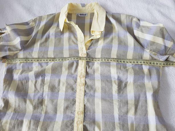 Koszula ze streczem szara w prążki