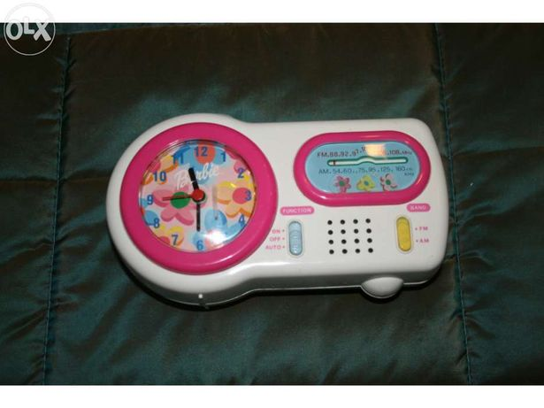 Relogio despertador Radio Barbie