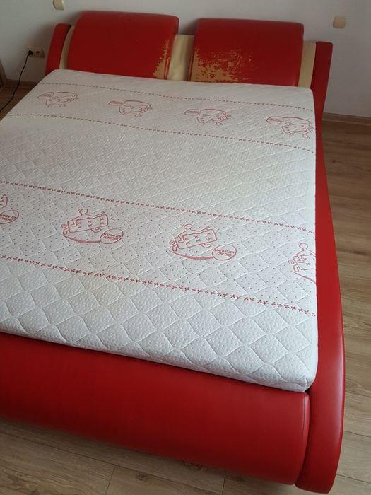Łóżko tapicerowane + materac Borzęcin - image 1
