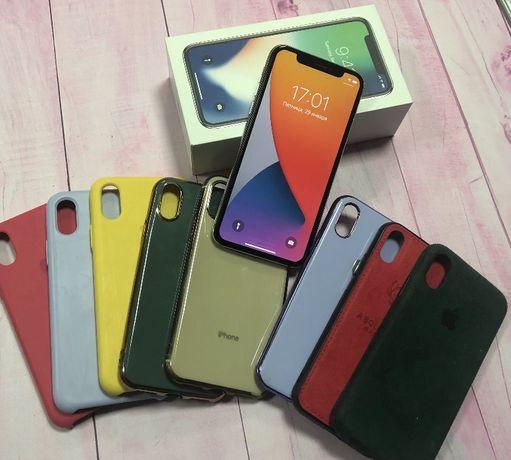 Iphone X (10) Silver 64гб в отличном состоянии
