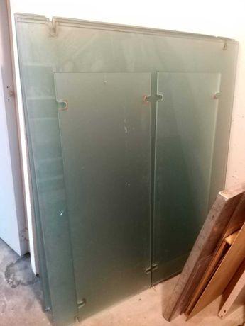 vende-se vedaçao de paneis de vidrio fosco, 135cm por 120cm de altura.