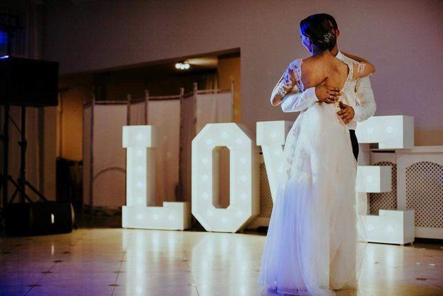 Love litery Led wesele ślub urodziny impreza