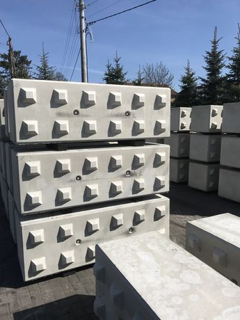 Bloki betonowe, klocki betonowe, mury oporowe, przeciwpożarowe REI 240