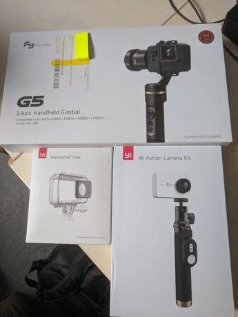 Kamera sportowa Yi 4K Action Camera + gimbal FeiyuTech G5 + obudowa