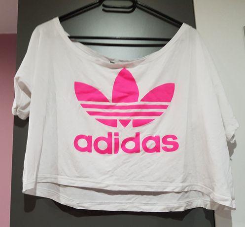 Białe luźna koszulka  Adidas