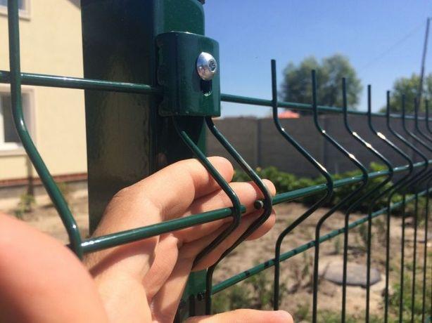 Секционное ограждение, забор из секций 3Д, еврозабор, ворота, калитки