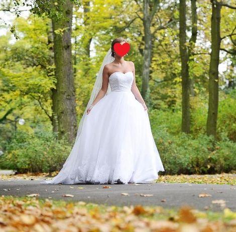 Przepiękna Suknia Ślubna Amy Love- Gayet 34/36 + dodatki