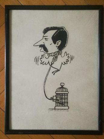 Grafika JACEK FEDOROWICZ - Wałęsa po internowaniu 1983 rok z historią!