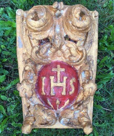 Talha dourada letras barroco altar pintura dourado