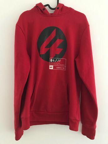 Czerwona bluza męska 4f