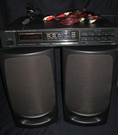 Rádio Onkyo e Colunas Technics