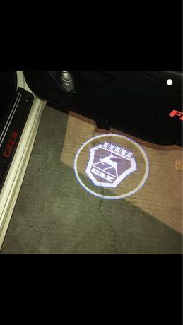 Kit Projector LED Para Portas carro Caveira - Novo