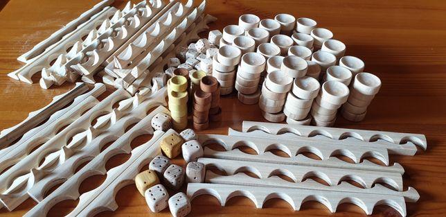 Фишки для нард разных диаметров+Зарики