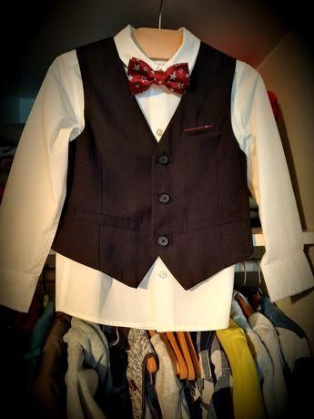 H&M koszula kamizelka komplet 104