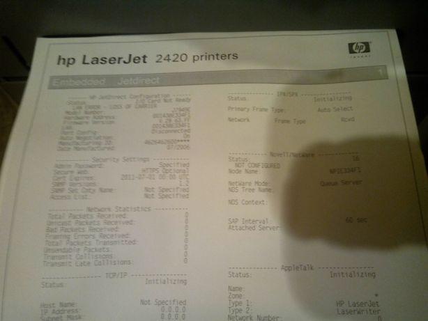 Принтер HP LaserJet 2430dtn c сетью и дуплексом и третим лотком