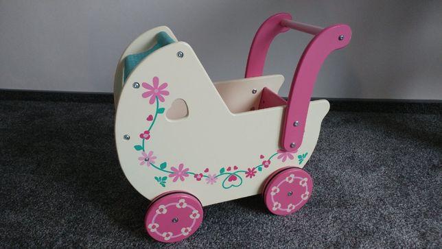 Piękny, niepowtarzalny, drewniany wózek dla lalek