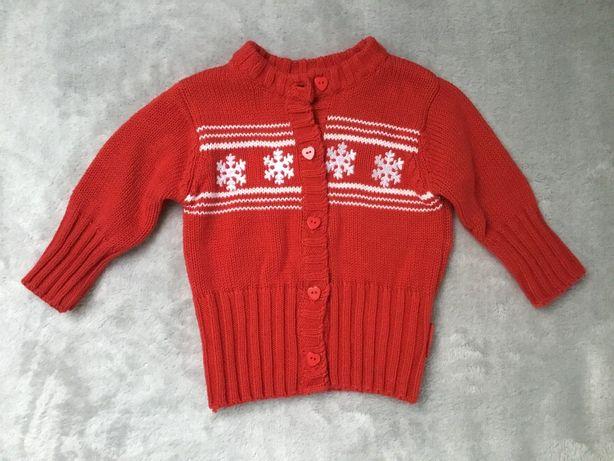 Sweterek Coccodrillo świąteczny r. 68
