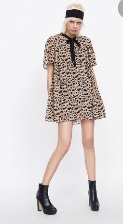 Sukienka -Kombinezon w panterkę Zara