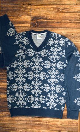 Нарядный фирменный свитер реглан джемпер Fish 44-46 р парень школа